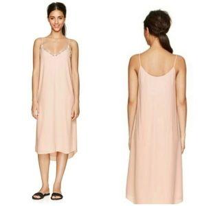 Aritzia Babaton Light Pink Townsend Slip Dress Lg